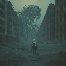 """Illustration ur """"Labyrinten av Simon Stålenhag"""